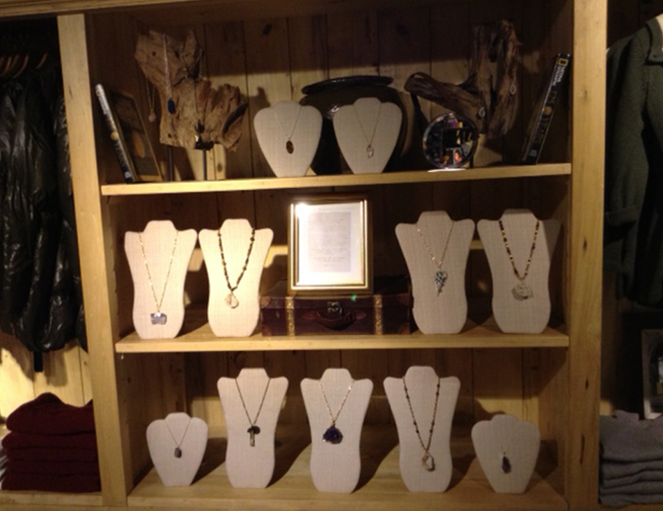 KD Custom Jewelry Necklace display at National Geographic