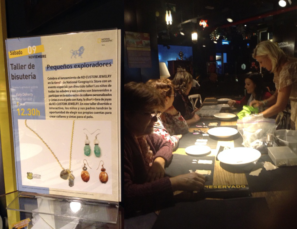 KD Custom Jewelry teaching jewelry making class at National Geographic workshop